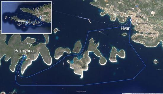 Sailing around the Pakleni Islands